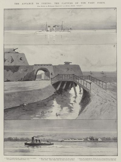 The Advance to Peking, the Capture of the Taku Forts-Charles Auguste Loye-Giclee Print
