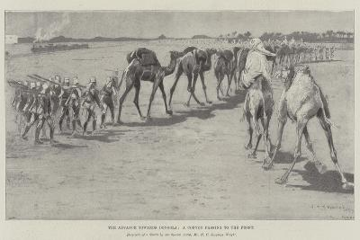 The Advance Towards Dongola, a Convoy Passing to the Front-Henry Charles Seppings Wright-Giclee Print