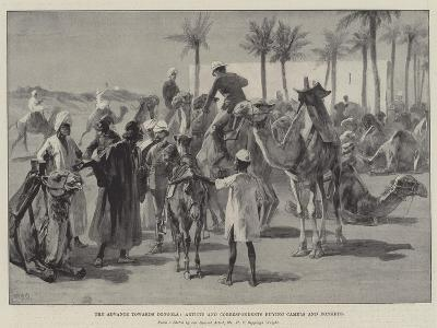 The Advance Towards Dongola, Artists and Correspondents Buying Camels and Donkeys-William Heysham Overend-Giclee Print