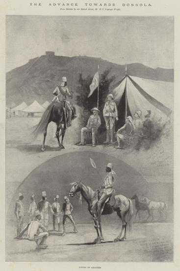 The Advance Towards Dongola, Scenes at Akasheh-Henry Charles Seppings Wright-Giclee Print