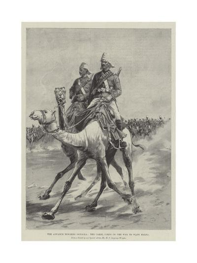 The Advance Towards Dongola, the Camel Corps on the Way to Wady Halfa-Henry Charles Seppings Wright-Giclee Print