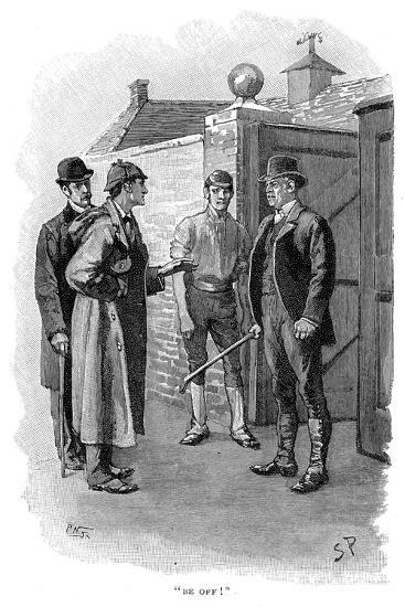 The Adventure of Silver Blaze, Holmes Questioning a Suspect-Sidney E Paget-Giclee Print