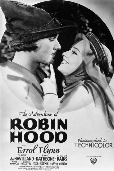 The Adventures of Robin Hood, from Left, Errol Flynn, Olivia De Havilland, 1938--Premium Giclee Print