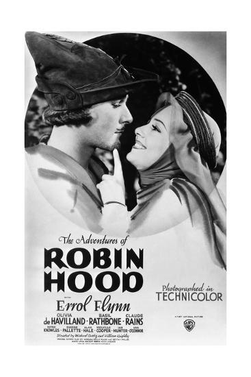 The Adventures of Robin Hood, from Left, Errol Flynn, Olivia De Havilland, 1938--Giclee Print