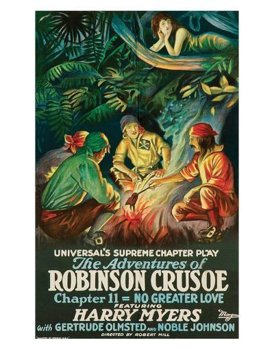 The Adventures Of Robinson Crusoe - 1922--Art Print