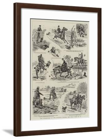 The Adventures of Two Runaway Horses, and What Came of It-Alfred Chantrey Corbould-Framed Giclee Print