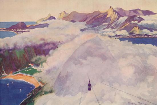 'The Aerial Ropeway Car descending from the Sugar Loaf Mountain', 1914-Unknown-Giclee Print