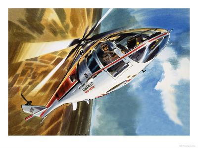 The Aerobatic Helicopter-Wilf Hardy-Giclee Print