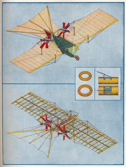 The aeroplane proposed by Henson in his patent of 1842, c1936 (c1937)-Unknown-Giclee Print