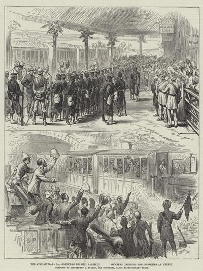 The Afghan War, 3rd Goorkhas Leaving Bareilly, Gunners Cheering the Goorkhas at Meerut--Giclee Print