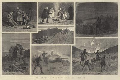 The Afghan War, a Raid on a Cave Village-John Charles Dollman-Giclee Print
