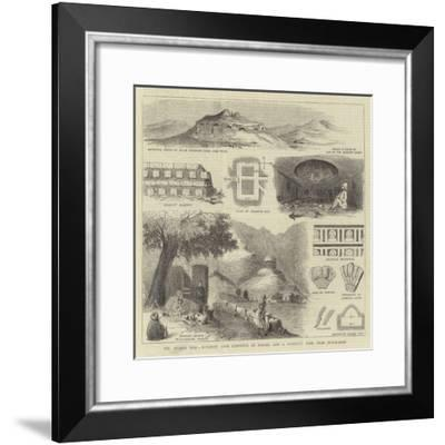 The Afghan War, Buddhist Cave Convents at Hadah, and a Buddhist Tope, Near Jellalabad--Framed Giclee Print