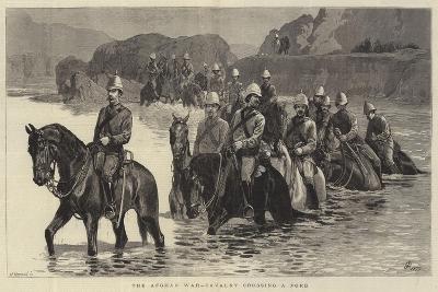 The Afghan War, Cavalry Crossing a Ford-John Charlton-Giclee Print