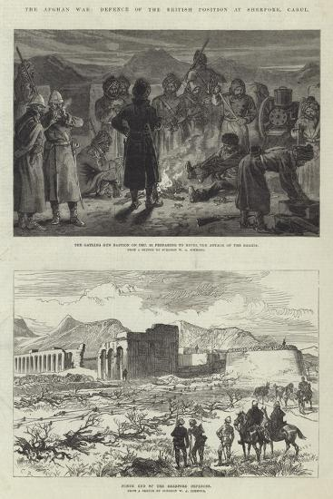 The Afghan War, Defence of the British Position at Sherpore, Cabul-Charles Robinson-Giclee Print