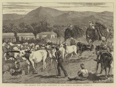 The Afghan War, Guns Captured at Ali Musjid Entering Peshawur-John Charles Dollman-Giclee Print