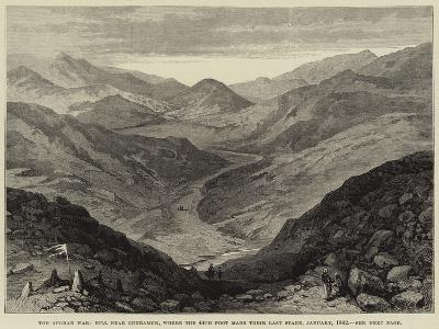 The Afghan War, Hill Near Gundamuk, Where the 44th Foot Made their Last Stand, January 1842--Giclee Print