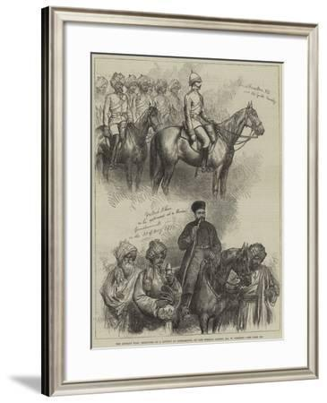 The Afghan War, Sketches at a Review at Gundamuck-William 'Crimea' Simpson-Framed Giclee Print