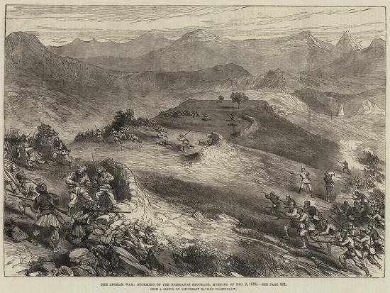 The Afghan War, Storming of the Spingawai Stockade, Morning of 2 December 1878--Giclee Print