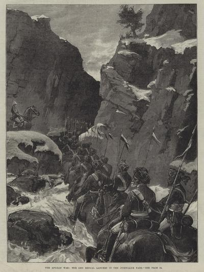 The Afghan War, the 10th Bengal Lancers in the Jugdulluk Pass--Giclee Print
