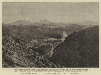 The Afghan War, the Khyber Pass from the Summit of Ali Musjid--Giclee Print