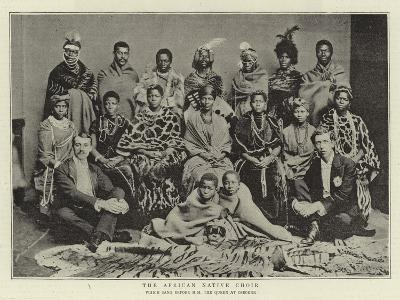The African Native Choir, Which Sang before H M the Queen at Osborne--Giclee Print