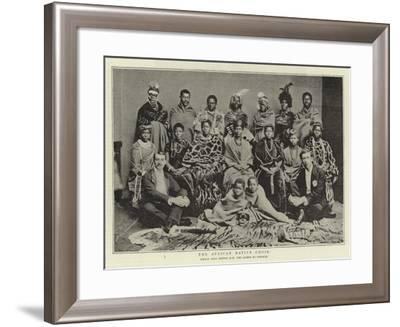 The African Native Choir, Which Sang before H M the Queen at Osborne--Framed Giclee Print
