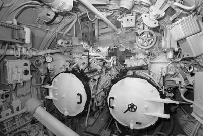 The Aft Torpedo Room of the Captured German Submarine U505--Framed Photographic Print