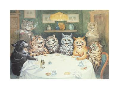 The after Dinner Speaker-Louis Wain-Giclee Print