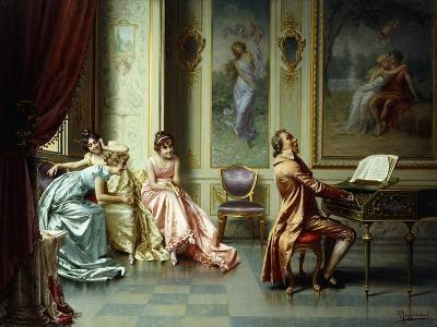 The Afternoon Concert - Out of Tune-Vittorio Reggianini-Giclee Print