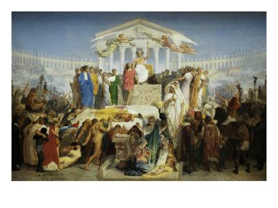 The Age of Augustus, the Birth of Christ-Jean Leon Gerome-Art Print