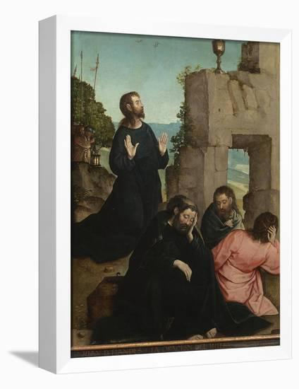 The Agony in the Garden-Juan de Flandes-Framed Stretched Canvas Print