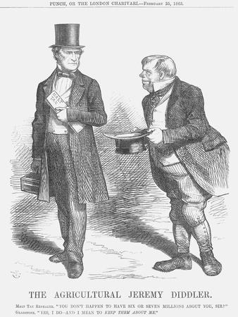 The Agricultural Jeremy Diddler, 1865-John Tenniel-Framed Giclee Print