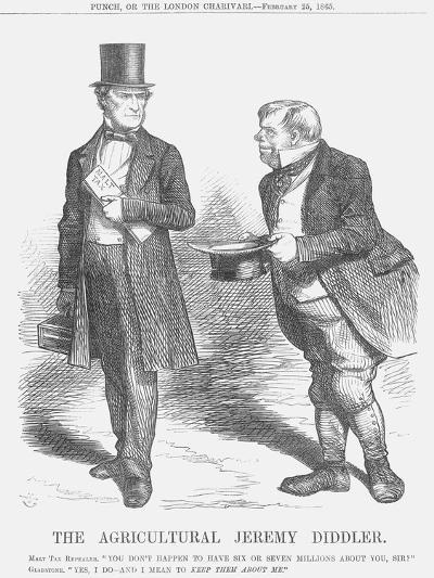 The Agricultural Jeremy Diddler, 1865-John Tenniel-Giclee Print