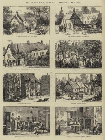 The Agricultural Question, Labourers' Dwellings--Giclee Print