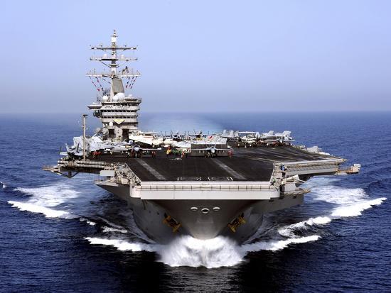 The Aircraft Carrier USS Dwight D. Eisenhower Transits the Arabian Sea-Stocktrek Images-Photographic Print