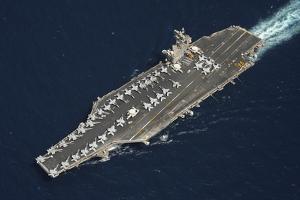 The Aircraft Carrier USS Dwight D. Eisenhower