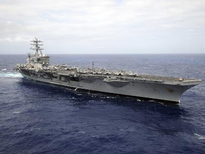 The Aircraft Carrier USS Nimitz Transits the Pacific Ocean-Stocktrek Images-Photographic Print