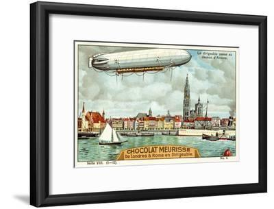 The Airship Passing over Antwerp