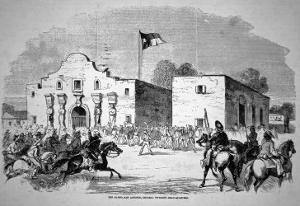 The Alamo Fort at San Antonio, Headquarters of Federal General Twiggs
