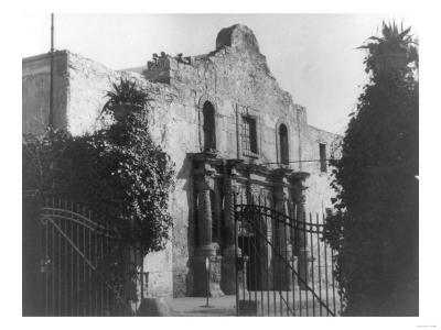 The Alamo in San Antonio, TX Photograph No.2 - San Antonio, TX-Lantern Press-Art Print