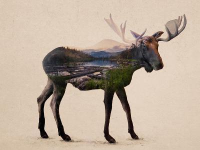 The Alaskan Bull Moose-Davies Babies-Art Print