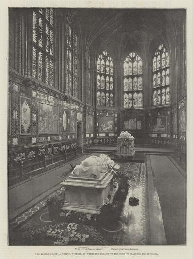 The Albert Memorial Chapel, Windsor, in Which the Remains of the Duke of Clarence are Reposing--Giclee Print