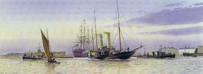 The Alberta Departing Portsmouth-Martyn Mackrill-Collectable Print