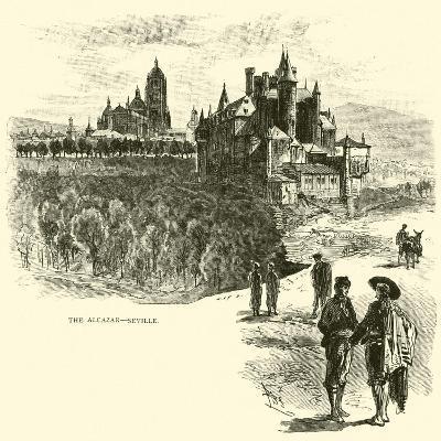 The Alcazar, Seville--Giclee Print