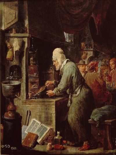 The Alchemist-David Teniers the Younger-Giclee Print