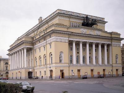 The Alexandrinsky Theatre in Saint Petersburg, 1828-1832-Carlo Rossi-Photographic Print