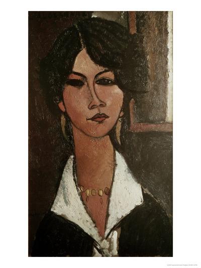 The Algerian Almaisa-Amedeo Modigliani-Giclee Print