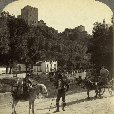The Alhambra, Granada, Andalusia, Spain-Underwood & Underwood-Photographic Print