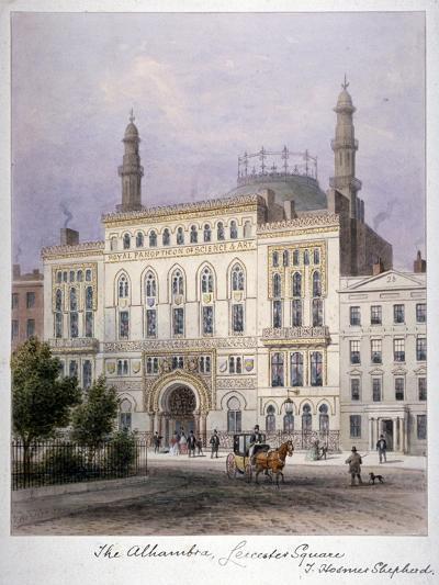 The Alhambra, Leicester Square, Westminster, London, C1858-Thomas Hosmer Shepherd-Giclee Print