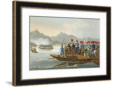 The Allied Army Crossing the Rhine to Invade France-John Heaviside Clark-Framed Giclee Print